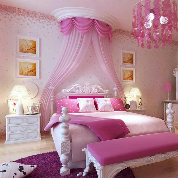 Pink Bedrooms For Girls