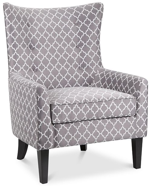 Furniture Brie Printed Fabric Accent Chair & Reviews - Chairs .