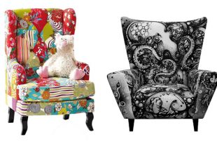 22 Gorgeous Printed Wing Back Chairs | Home Design Lov