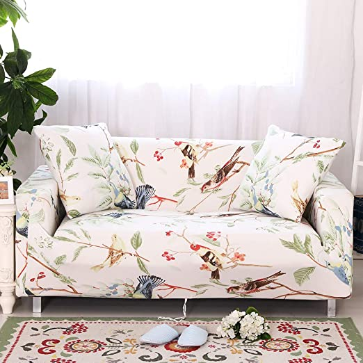 Amazon.com: Jaoul Floral Loveseat Slipcovers Stretch Couch Cover .