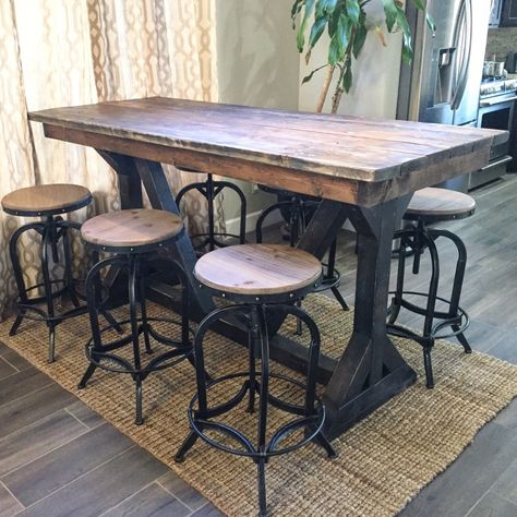 Rustic Pub Table (With images)   Rustic pub table, Pub table sets .
