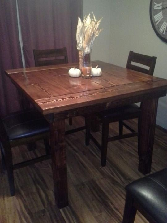 Pub Style Kitchen Table by FarmstyleFurniture on Etsy, $500.00 .