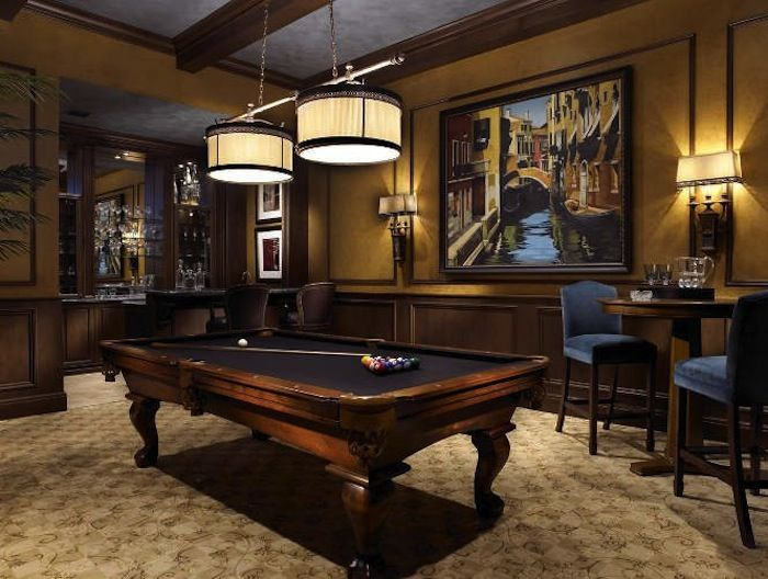 Pub Tables in the Game Room   Pool table room, Billiard room, Game .