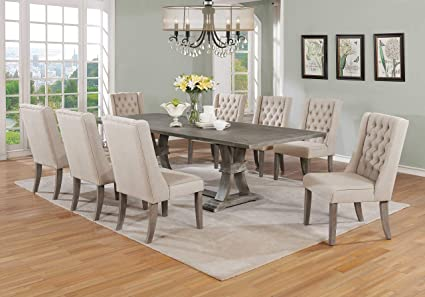 Amazon.com - Best Quality Furniture 9PC Dining Set (1 Table + 8 .