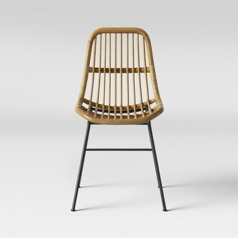 Linnet Rattan Dining Chair With Metal Legs Light Brown - Opalhouse .