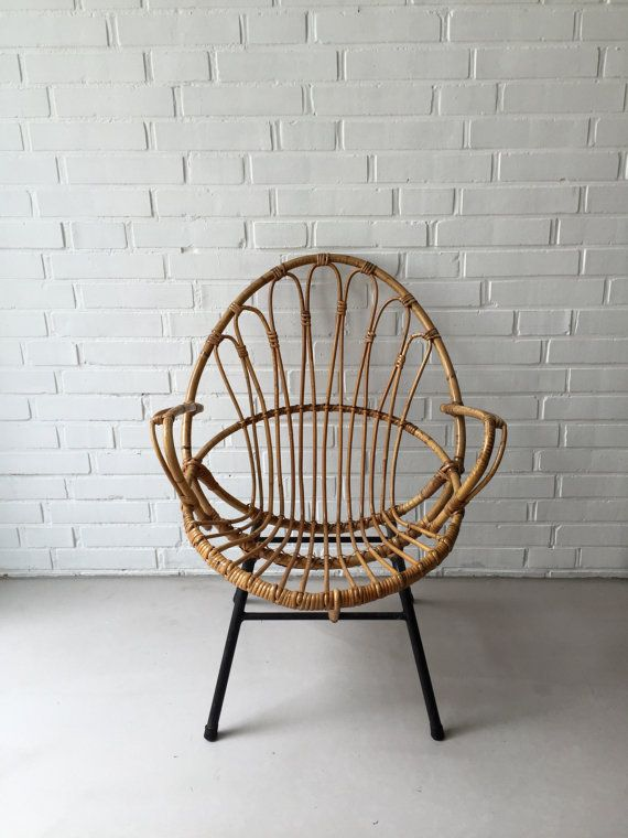 Vintage rattan chair, Wicker Chair, bamboo chairs, vintage .