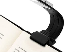 Amazon.com: Clip On Book Light Reading Light USB Rechargeable .