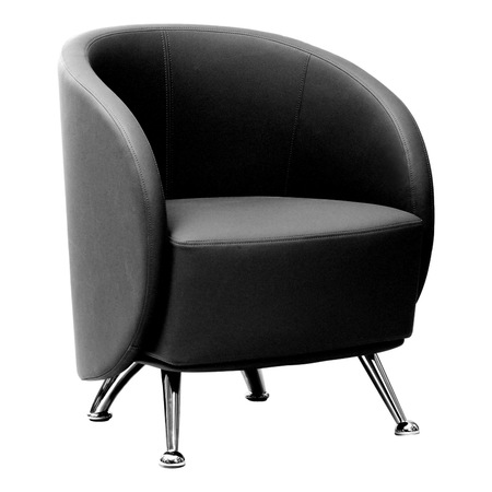 Express HUH Series Lounge and Reception Chair in Black - Office .