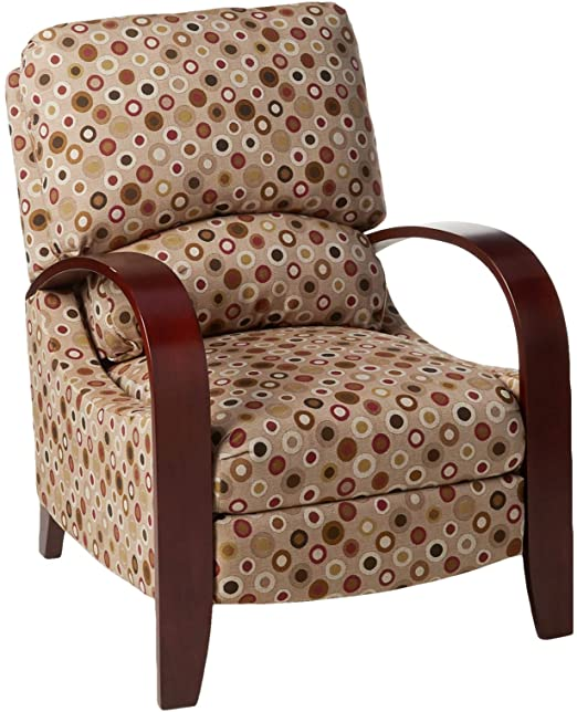 Amazon.com: Madison Park Archdale Recliner Chair-Solid Wood .