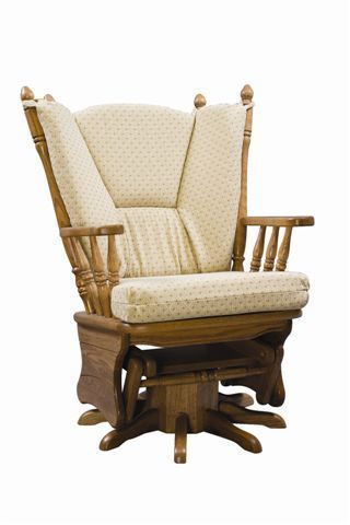 Upholstered Gliding Swivel Rocking Chair from DutchCrafters Ami