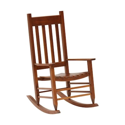 Style Selections Wood Rocking Chair(s) with Slat Seat at Lowes.c