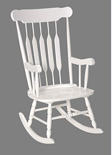 Amazon.com: Adult Solid Wood Rocking Chair White: Kitchen & Dini