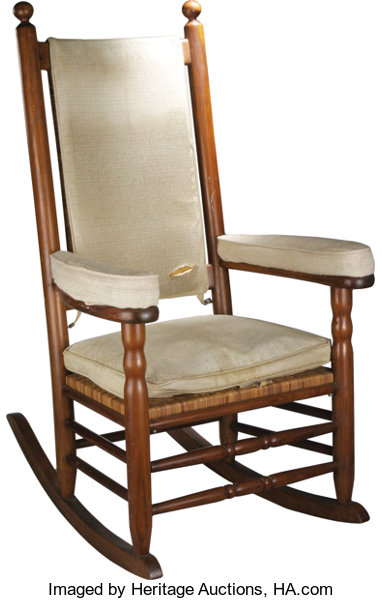 President John F. Kennedy's Personal Rocking Chair from his White .