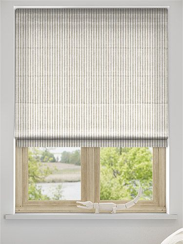 Pure Linen Stripe Roman Blind from Blinds 2go (With images .