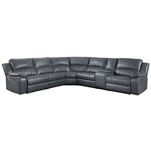 Leather Reclining Sectional: Amazon.c