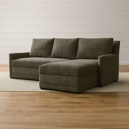 Reston Grey Sectional Sleeper Sofa + Reviews | Crate and Barr
