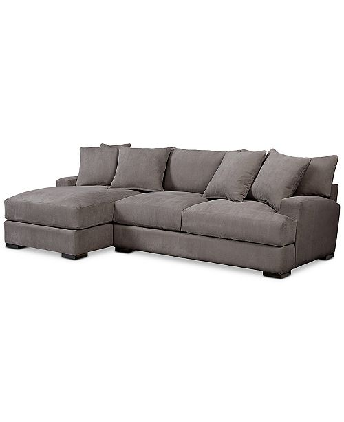 Furniture Rhyder 2-Pc. Fabric Sectional Sofa with Chaise, Created .