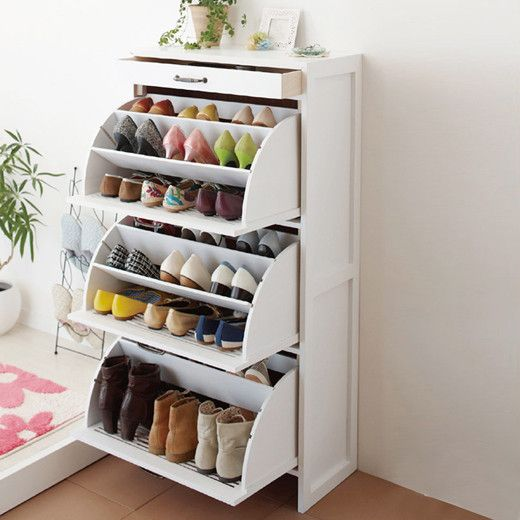 The perfect grab-and go shoe rack for me! | Dorm room storage .