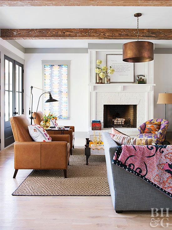 Adding Charm to a Modern Farmhouse in 2020 | Living room with .