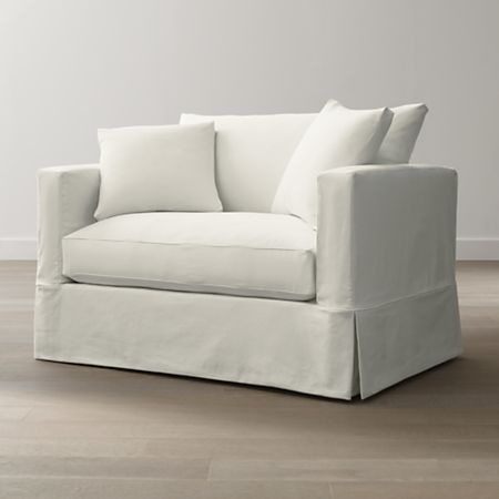 Willow White Twin Sleeper Sofa + Reviews | Crate and Barr