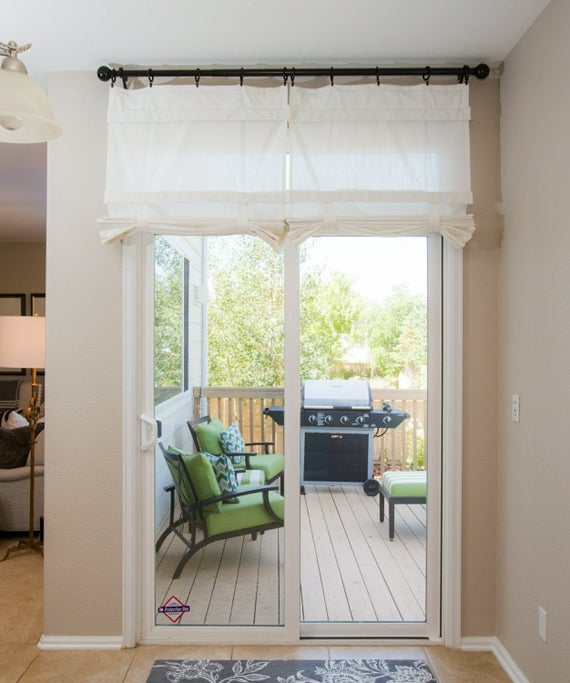 Off White Sliding Glass Door Curtain Shade Pricing is for 1 | Et