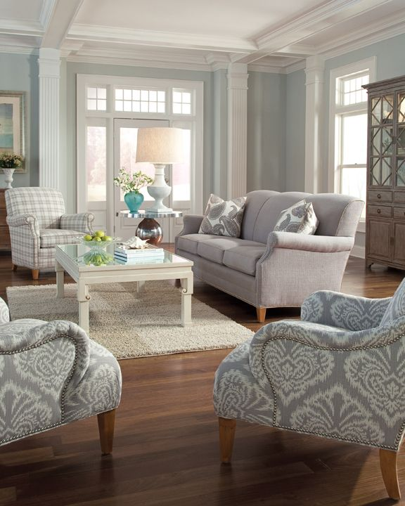 The 7436-20 is a small scale, tight back sofa - perfect for small .