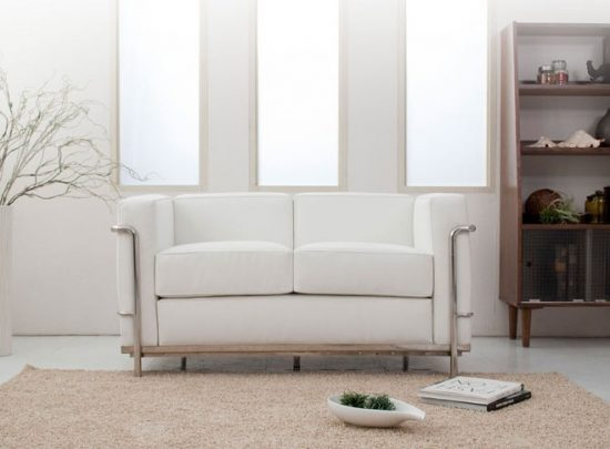Do you dare to furnish your small space with 2018 white leather sofa