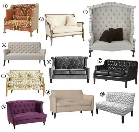 Small Space Sofa Alternatives: 10 Settees & Loveseats | Sofas for .