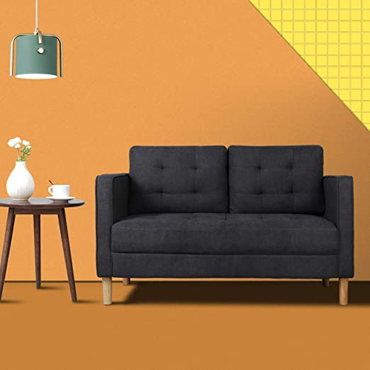 Amazon.com: Modern Classic Loveseat Sofa, Upholstered Sofa/Couch,2 .