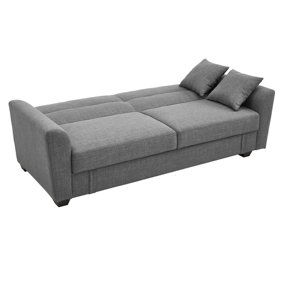 Boston 3 Seater Storage Sofa Bed - Siberian Grey, Sofa beds by .