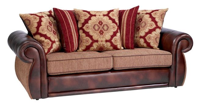 Leather sofa with cloth cushions - Bing images | Cushions on sofa .