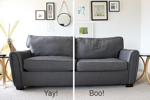 How to Stuff your Sofa cushions and give them new life! | Old sofa .