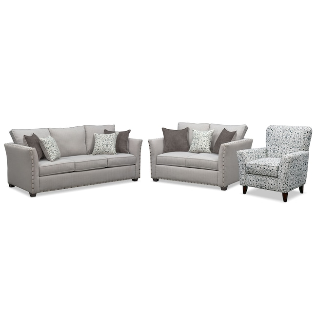 Mckenna Queen Sleeper Sofa, Loveseat and Accent Chair | Value City .