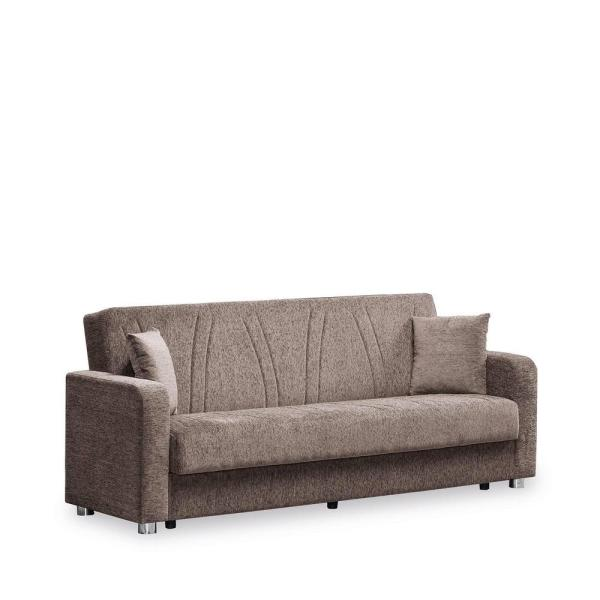 Ottomanson Elegance Beige Fabric Uphostery Sofa Sleeper Bed with .