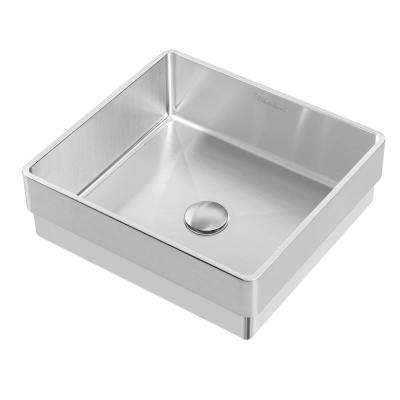 Square - Stainless Steel - Bathroom Sinks - Bath - The Home Dep