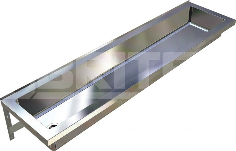 Commercial Stainless Steel Trough Bathroom Sink | Practical Trough .