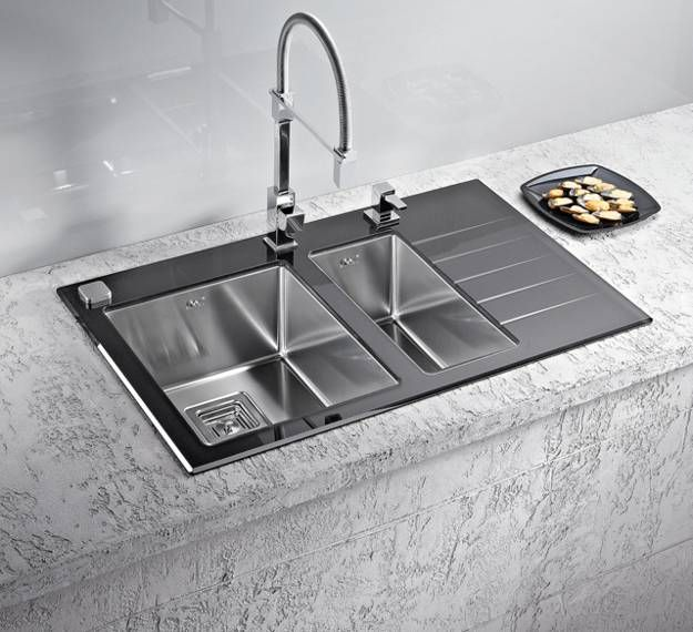 Stainless Steel Kitchen Sinks and Modern Faucets, Functional .
