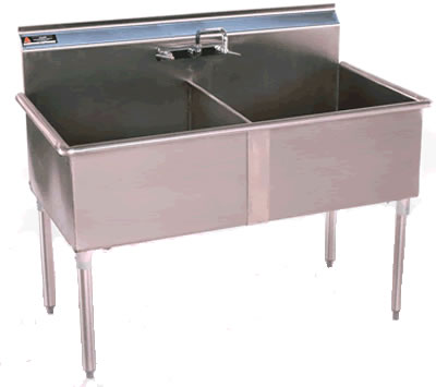 Two Compartment, Sinks, NSF Sinks, Stainless Steel Sink, Utility Sin