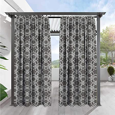 Amazon.com : Geometric Exterior/Outside Curtains Modern Moroccan .