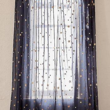 Modern Navy Gold Stars Curtains - Products, bookmarks, design .