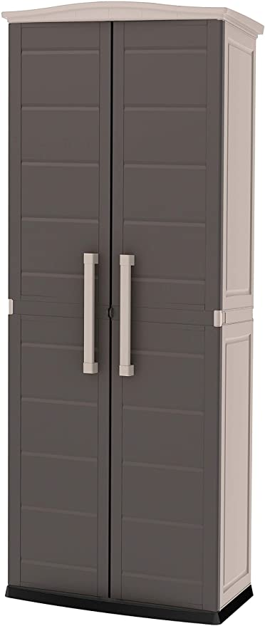 Amazon.com : Keter Boston Resin Tall Outdoor Storage Shed Cabinet .