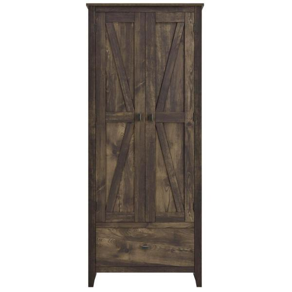 SystemBuild Brownwood 30 in. W Storage Cabinet in Rustic HD17448 .