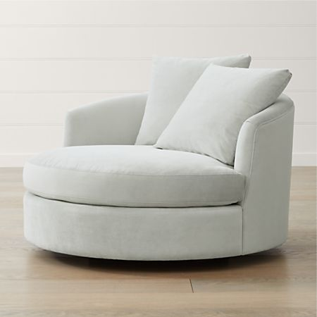 Tillie Grande Swivel Chair + Reviews | Crate and Barr