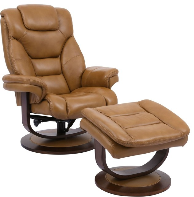 Parker Living Monarch Manual Reclining Swivel Chair and Ottoman .