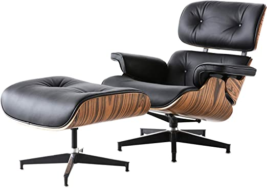 Amazon.com: Mid Century Modern Lounge Chair with Ottoman, Recliner .