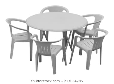 Plastic Table and Chairs Images, Stock Photos & Vectors   Shuttersto
