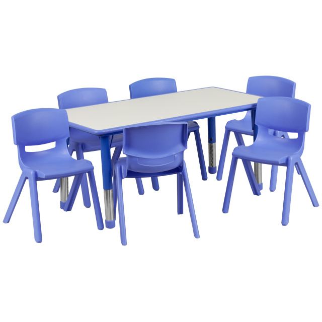 Daycare tables and preschool table and chair sets at Daycare .