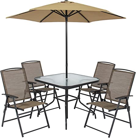 Amazon.com: Best Choice Products 6-Piece Outdoor Folding Steel .