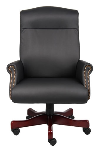 Boss Executive Mahogany wood Finish Chair B970 @ Office Chairs Outl