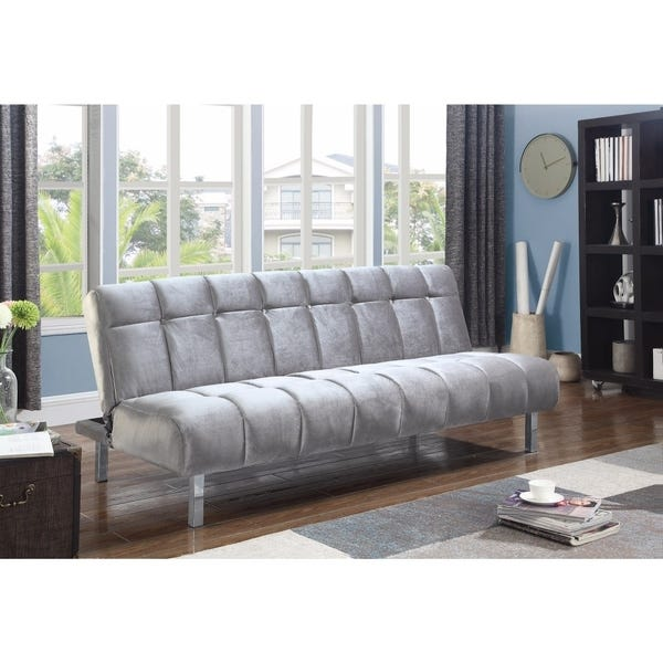 Shop Trendy Modern Sofa Bed, Silver - Overstock - 214927